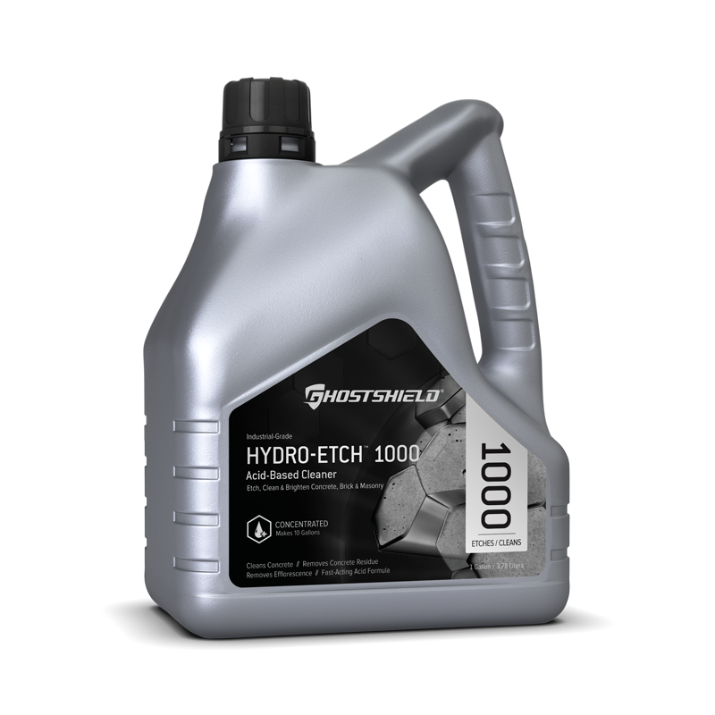 Hydro-Etch 1000 Acid-Etching Concrete Cleaner // Ghostshield®