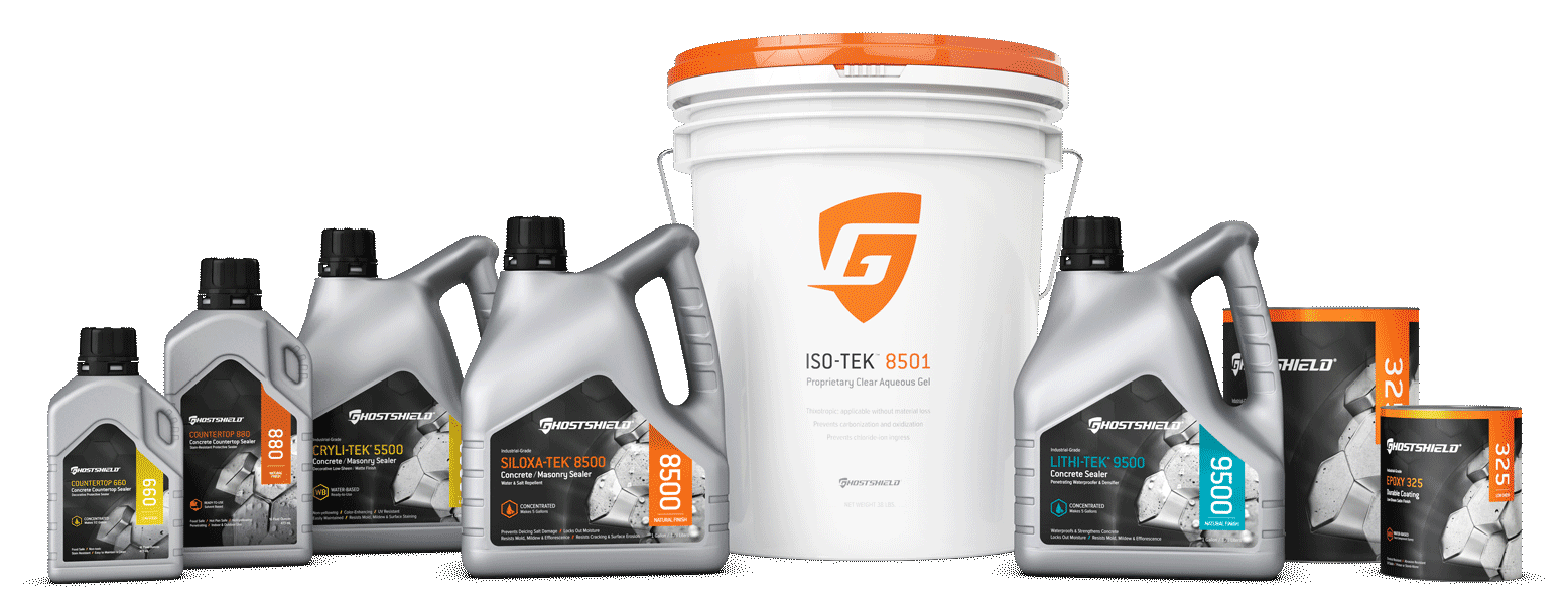 Ghostshield Concrete Sealer Product Family