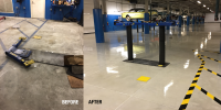 Ghostshield Concrete Sealers - Epoxy 325 Concrete Coating Customer Upload: Epoxy 325 Clear Primer and Urethane 645 Clear Top Coat.