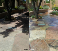 Ghostshield Concrete Sealers - Cryli-Tek 5505 Concrete Sealer Customer Upload: Flagstone application