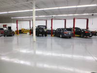 Ghostshield Concrete Sealers - Urethane 645 & Epoxy 325 Concrete Coating Customer Upload: After sealing with Epoxy 325 medium gray base coat and Urethane 645 medium gray top coat with aluminum oxide slip resistant additive