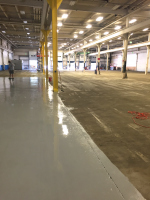 Ghostshield Concrete Sealers - Urethane 645 & Epoxy 325 Concrete Coating Customer Upload: During application of Epoxy 325 medium gray base coat and Urethane 645 medium gray top coat