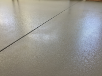 Ghostshield Concrete Sealers - Urethane 645 Concrete Coating Customer Upload: Ghostshield Urethane 645, Dark Gray, applied over Epoxy 325 Dark Gray with 46 grit oxide casted into coating.