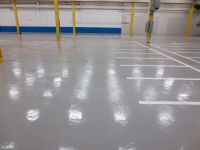 Ghostshield Concrete Sealers - Urethane 645 & Epoxy 325 Concrete Coating Customer Upload: After sealing with Epoxy 325 medium gray base coat and Urethane 645 medium gray top coat