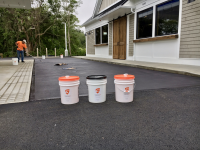 Ghostshield Concrete Sealers - Siloxa-Tek 8510 Concrete Sealer Customer Upload: Redi-Mix Colors black light concrete stain and Ghostshield Siloxa-Tek® 8510 oil, salt and stain resistant protective sealer.