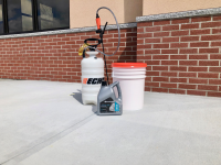 Ghostshield Concrete Sealers - Lithi-Tek 9500 Concrete Sealer Customer Upload: Lithi-Tek® 9500 exterior concrete commercial application